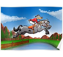 Olympic Equestrian Jumping Dog Poster