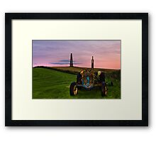 Monument Tractor Framed Print