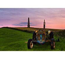 Monument Tractor Photographic Print