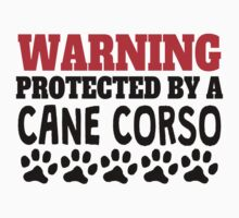 Protected By A Cane Corso Kids Tee