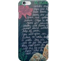 Botany Lesson - Algae and Lichen iPhone Case/Skin