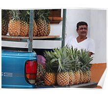 Pineapples - Piñas  Poster