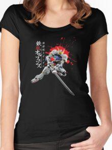 Gundam Barbatos Iron Blooded Orphans Blood Slasher - Tekkadan Black Women's Fitted Scoop T-Shirt
