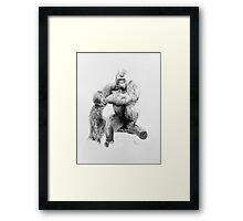 Gorilla, 2012, Pencil Framed Print