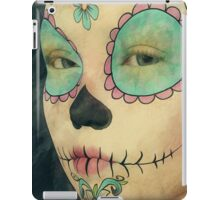 Day of The Dead - Sugar Skull Face Paint Portrait iPad Case/Skin