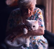Mary with cat... by Ellen van Deelen