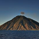 Panoramic view of the volcano Stromboli by Andrea Rapisarda