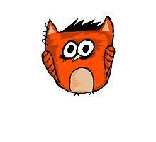 Orange Owl punk by Marie Mosca