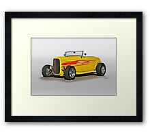 1932 Ford 'Flame Game' Roadster Framed Print