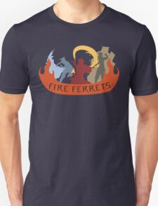 Fire Ferrets Trio - English Unisex T-Shirt