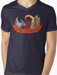 Fire Ferrets Trio - English Mens V-Neck T-Shirt