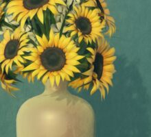 Painting Sunflowers - Surrealism Sticker