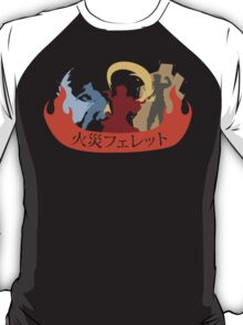 Fire Ferrets Trio - Japanese T-Shirt