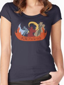 Fire Ferrets Trio - Japanese Women's Fitted Scoop T-Shirt