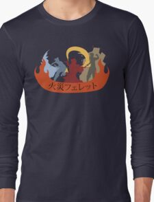 Fire Ferrets Trio - Japanese Long Sleeve T-Shirt
