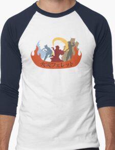 Fire Ferrets Trio - Japanese Men's Baseball ¾ T-Shirt