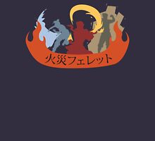 Fire Ferrets Trio - Japanese Unisex T-Shirt