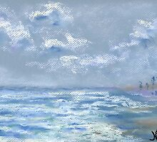 View from the Jetty (pastel) by Niki Hilsabeck