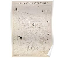 All in the days work Enlist in the United States Marine Corps for interesting duty land sea or sky Poster