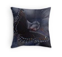 Beauty has wings Throw Pillow
