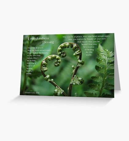 Lovingkindness Blessing Greeting Card