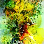 Colorful Abstract Digital Art-Dynamic Shapes And Lines by artonwear