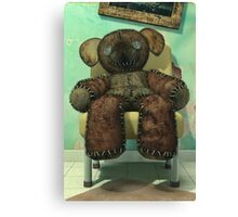 The Old and Unloved Teddy Bear Canvas Print