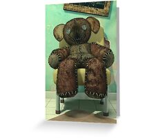 The Old and Unloved Teddy Bear Greeting Card