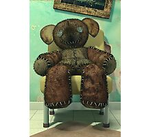 The Old and Unloved Teddy Bear Photographic Print