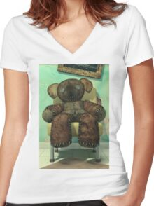 The Old and Unloved Teddy Bear Women's Fitted V-Neck T-Shirt