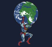 Captain Planet Shrugged Kids Tee