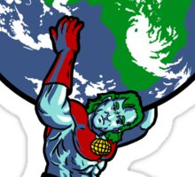 Captain Planet Shrugged Sticker