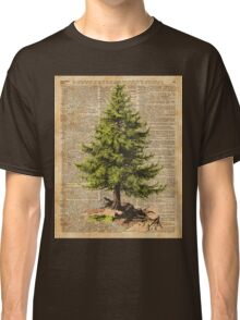 Pine Tree,Cedar Tree,Forest,Nature Dictionary Art,Christmas Tree Classic T-Shirt