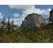Like a Fortress - Val Gardena, Italy Photographic Print
