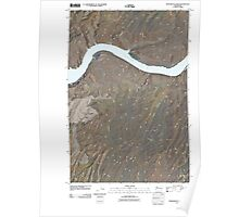 USGS Topo Map Washington State WA Monumental Rock 20110404 TM Poster