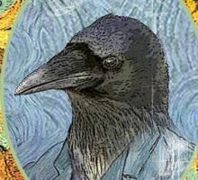 vincent van crow art supplies Sticker
