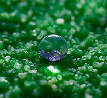 Water Drop on Hydrophobic Sand by Michael G Devereux