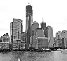 Cityscape- One World Trade with sailboat by photographist