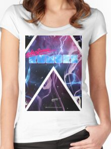 Electronic Rumors: Triangles Women's Fitted Scoop T-Shirt