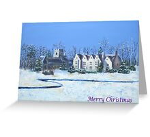 Asthall Christmas Card Greeting Card