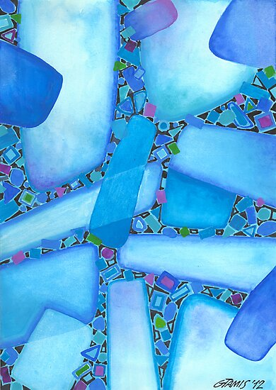 COMPOSITION IN BLUE by RainbowArt