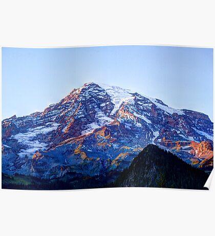 Alpine Glow on Rainier Poster