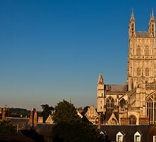 Gloucester Cathedral in summer glow by Jeff  Wilson