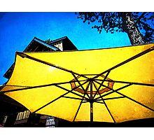 Under a golden umbrella Photographic Print