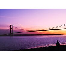 Humber Bridge Sunset Photographic Print