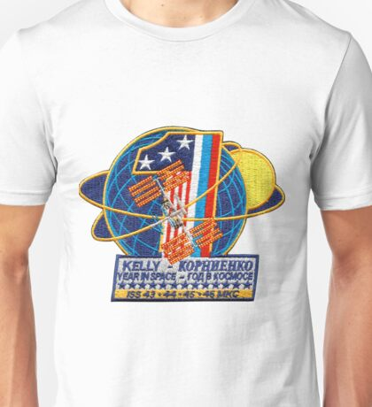 ISS: One Year Mission Logo Unisex T-Shirt