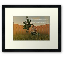 When Old Men Plant Trees Framed Print