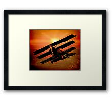 The Bloody Red Baron's Fokker at Sunset Framed Print