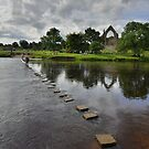 Yorkshire: Stepping Stones at Bolton Abbey by Rob Parsons