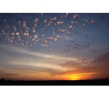 Sunset over overpass Photographic Print